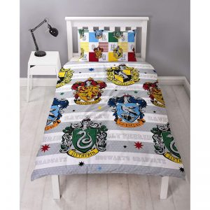 Harry Potter House Crests Single Funda nórdica delantera