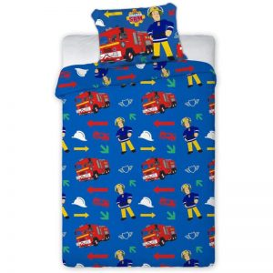 Fireman Sam Firefighter Single Duvet Cover