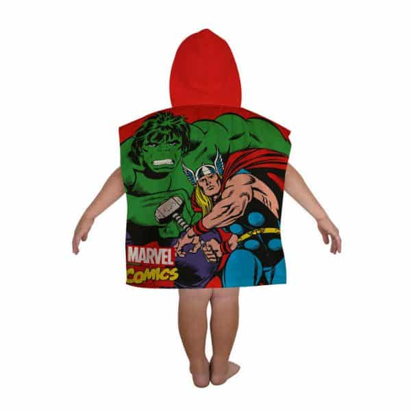 Marvel Comics Justice Hooded Poncho Reverse