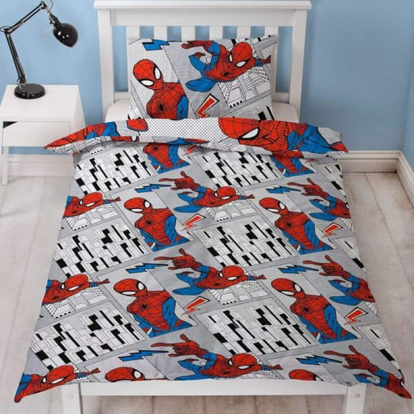 Spiderman Flight Single Duvet Cover Reverse
