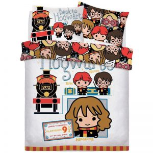 Harry Potter Ticket To School Double Duvet Cover Front
