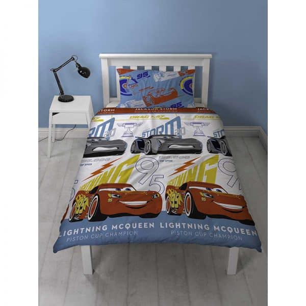 Disney Cars 3 Lightning Single Duvet Cover Front