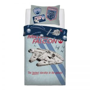 Star Wars Falcon Stripe Single Duvet Cover