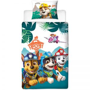 Paw Patrol Dino Single Duvet Cover Set Polycotton Front