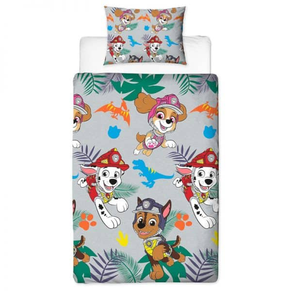 Paw Patrol Dino Single Duvet Cover Polyester Front