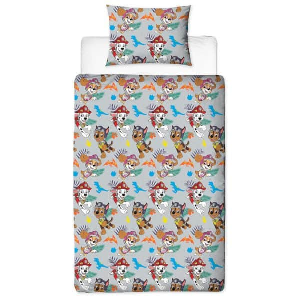 Paw Patrol Dino Single Duvet Cover Polyester Reverse
