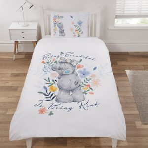 Me To You Bear Being Kind Single Duvet Cover Set Polycotton Front