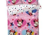 Minnie Mouse Love Hearts Double Duvet Cover