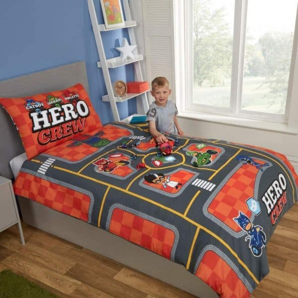PJ Masks Hero Crew Single Duvet Cover Reverse