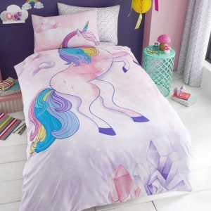 Young Uns Unicorn Single Duvet Cover