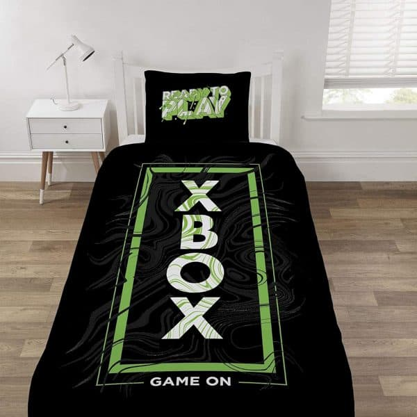 Microsoft X Box Game On Single Duvet Cover Front