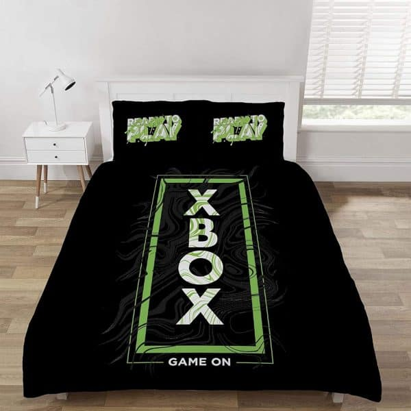 Microsoft Xbox Game On Double Duvet Cover Front