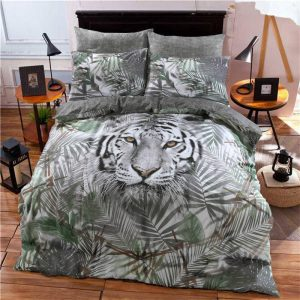 Pieridae 3D White Tiger Duvet Cover