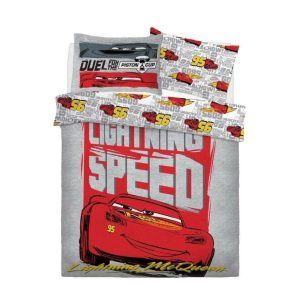 Disney Cars Lightning Speed ​​Dobbelt dynebetræk foran
