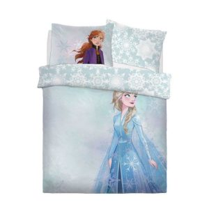 Shows The Front Of The Disney Frozen 2 Watercolour Double Duvet Cover