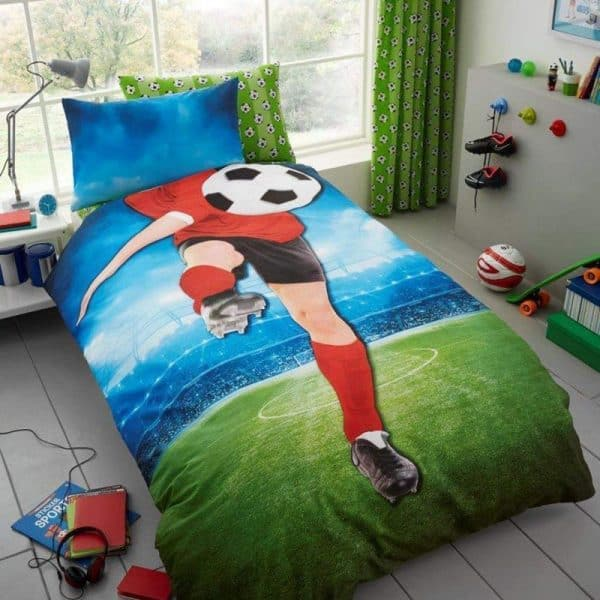 Young Uns Football Single Duvet Cover