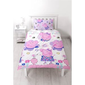 Peppa Pig Happy Single Duvet Cover Front