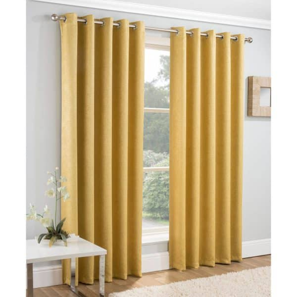 Vogue Curtains Ochre