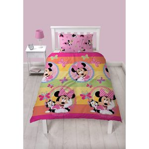 Minnie Mouse Butterfly Single Duvet Cover Set Front