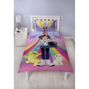 Over The Moon Galactic Single Duvet Cover Front